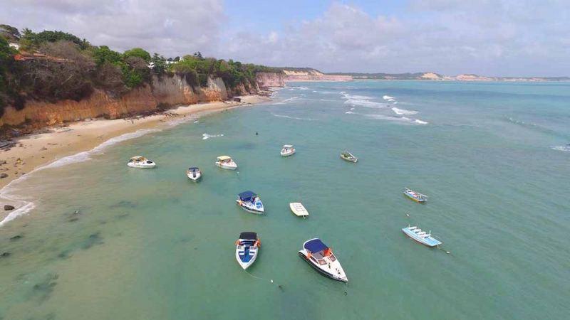 Barcos na Praia de Pipa