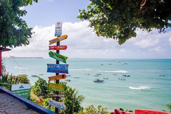 Placas na Praia de Pipa