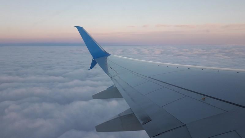 Vista do avião em Natal