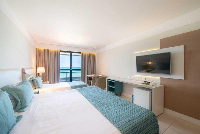 Quarto do apartamento no Ocean Palace em Natal