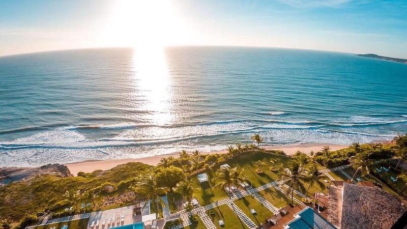 Vista aérea do Acquapipa Resort em Pipa