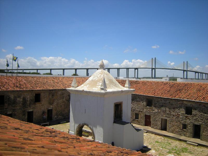 Vista do interior do Forte dos Reis Magos em Natal