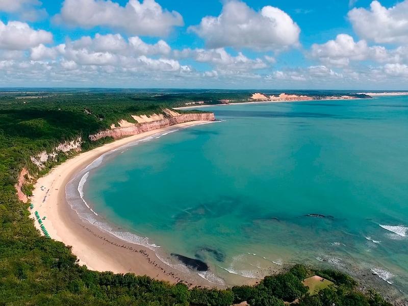 Vista da Praia Baía dos Golfinhos em Pipa