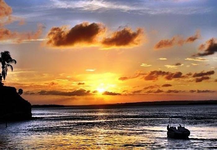 Pôr do sol na Lagoa de Guaraíras